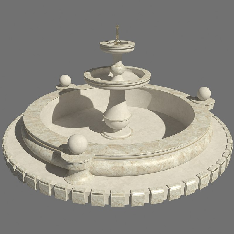 3D marble fountain