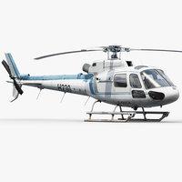 eurocopter h125 3d model
