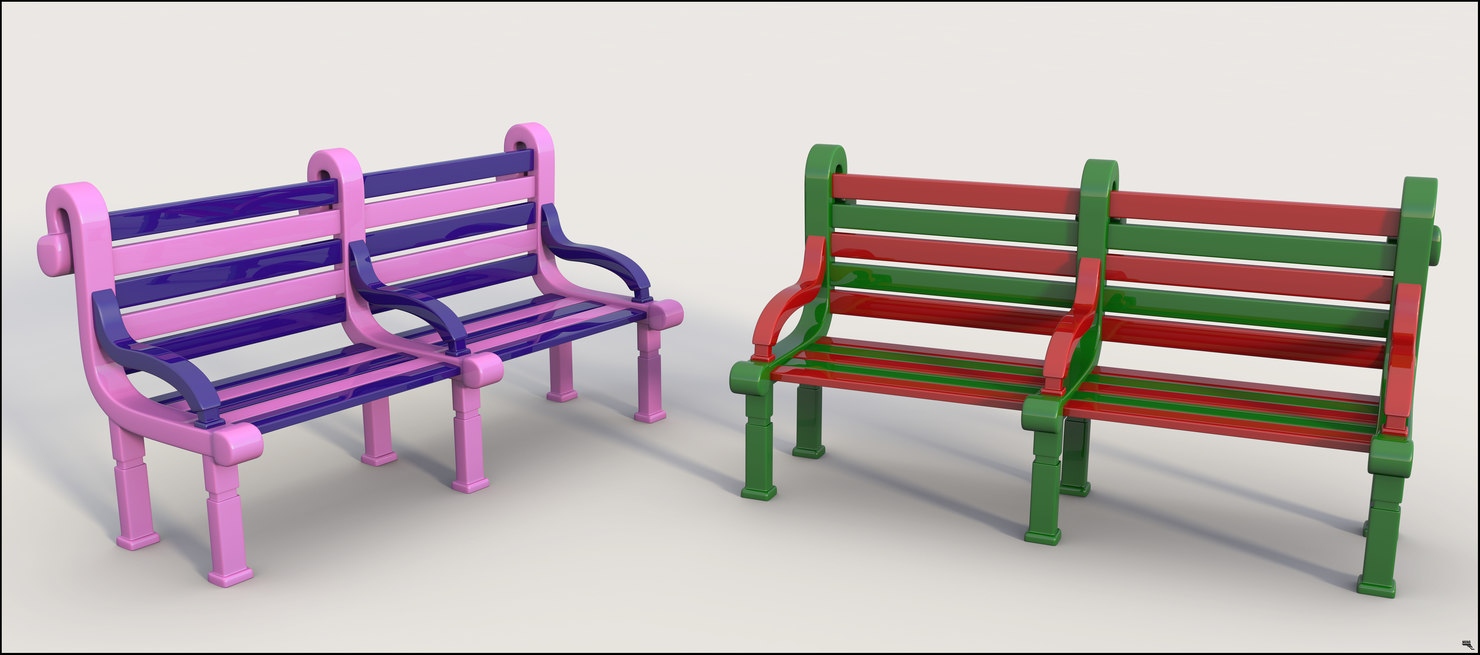 bench seat 3D