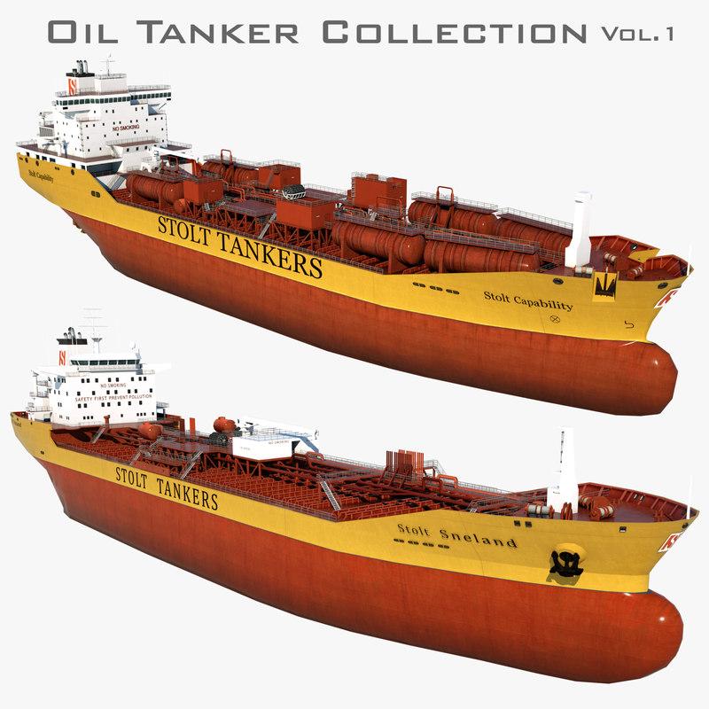 oil tankers 3D model