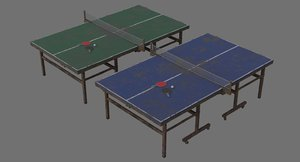 ping pong table 2c 3D model