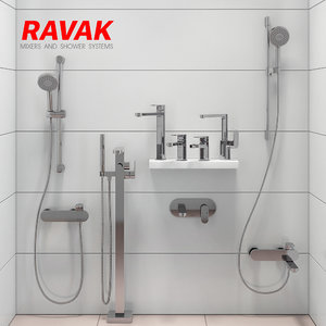 3D bathroom mixer set ravak model