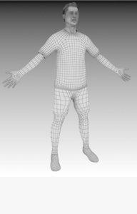 3D model character renders