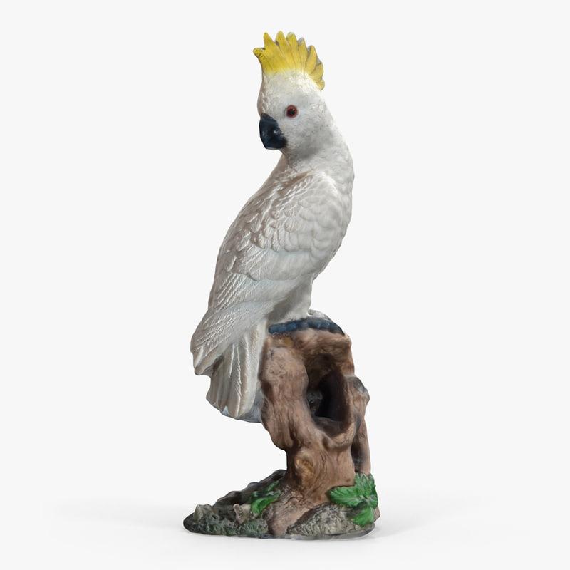 parrot statuette 3D model
