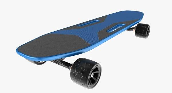 electric skateboard 3D model