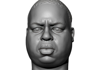 3D printable portrait notorious biggie