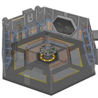 console room poser interior 3D model