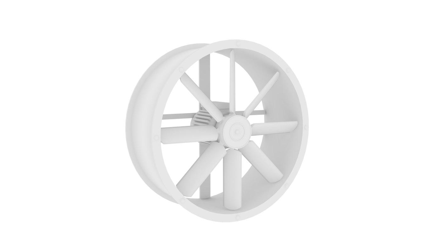3D model industrial fan