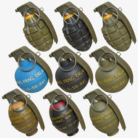 grenades pack 02 3D model