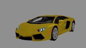 aventador car 3D