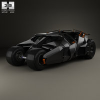 batmobile tumbler bat 3D