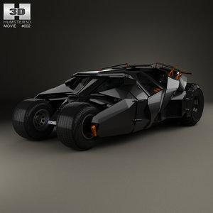 batmobile tumbler bat 3D