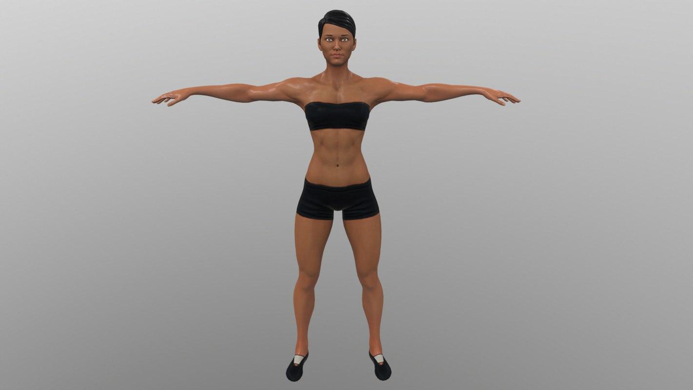 woman sport 3D model