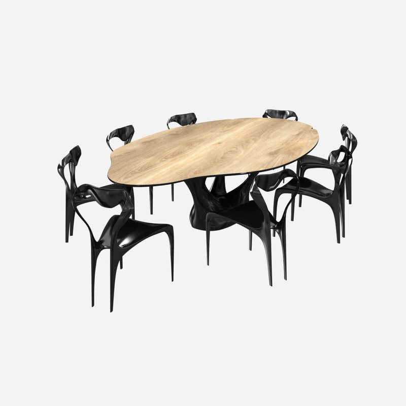3D chairs table joseph walsh