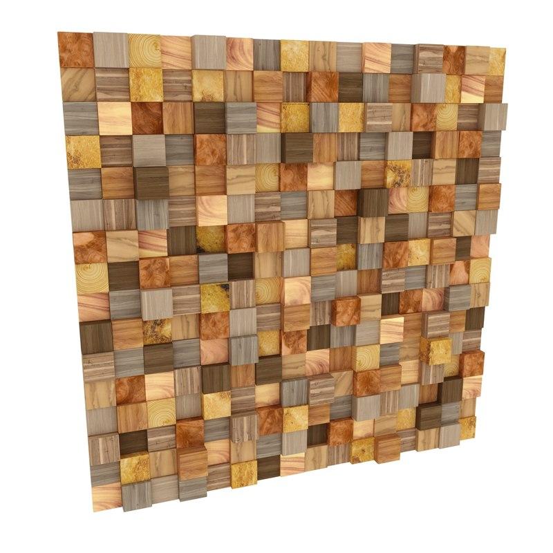 3D wall ornament wooden