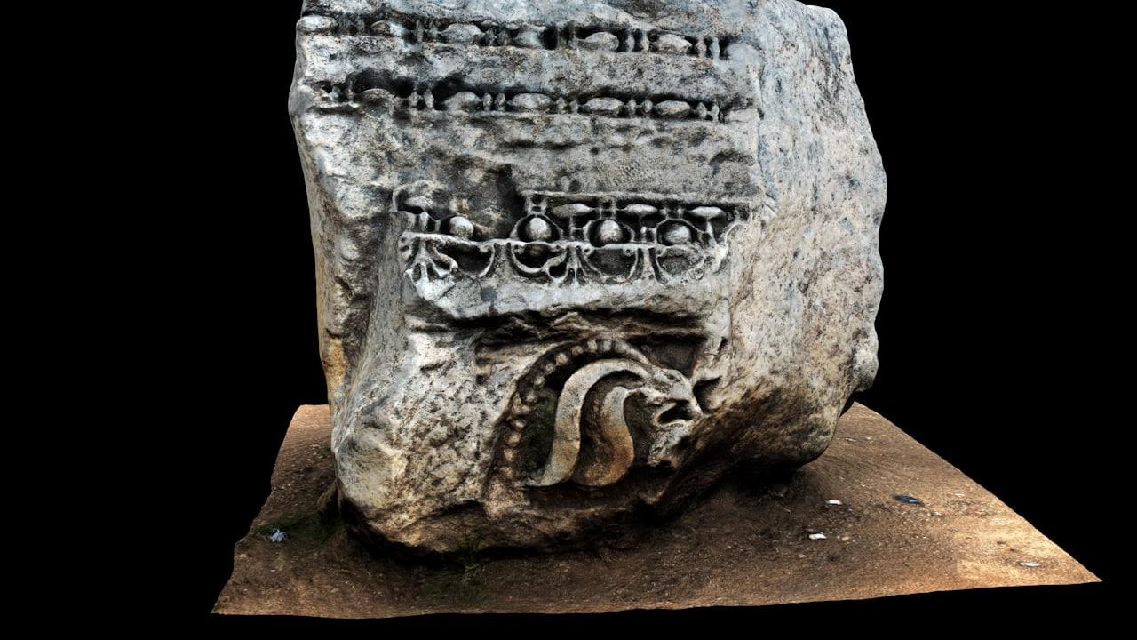 pbr ancient stone model