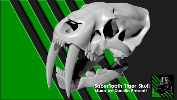 3D saber tooth tiger model