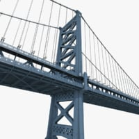 3D benjamin franklin bridge