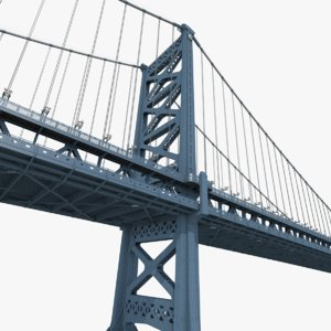 3D benjamin franklin bridge