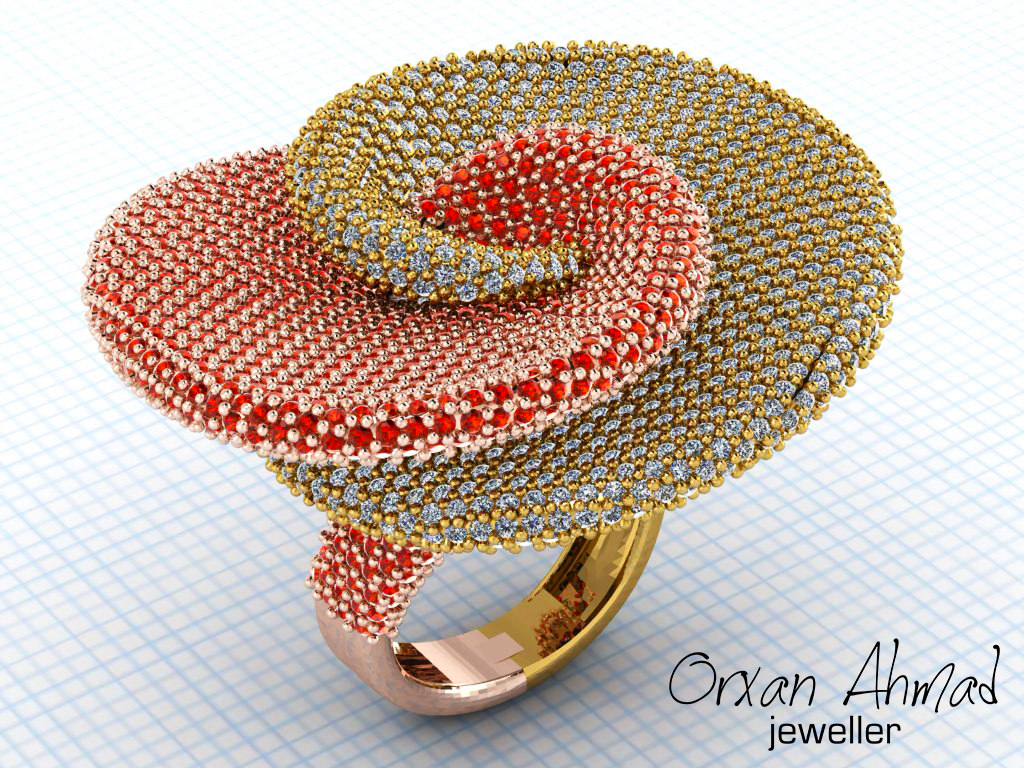 3D model fashion ring
