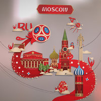Russia host city MOSCOW Kremlin Art