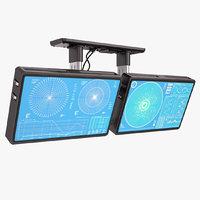 sci fi monitors 3D model