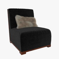 3D model lounge chair audrey