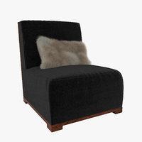 3D model lounge chair audrey