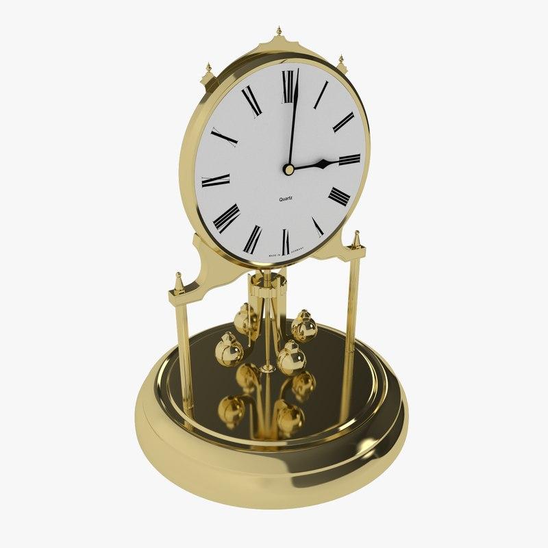 antique clock 3d obj