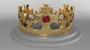 gold crown 3D