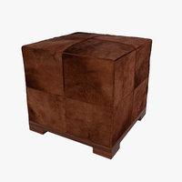 pouf ottoman orsi 3D model