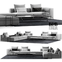 B&B ITALIA MICHEL CLUB SOFA COMPOSITION