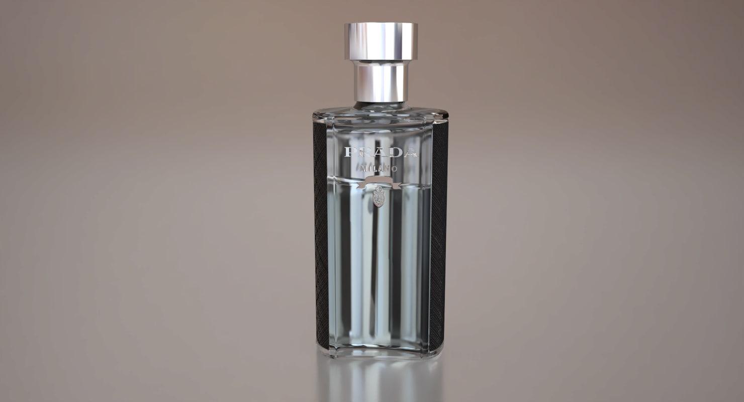 3D prada perfume bottle model