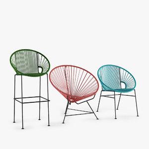 3D model set innit chair