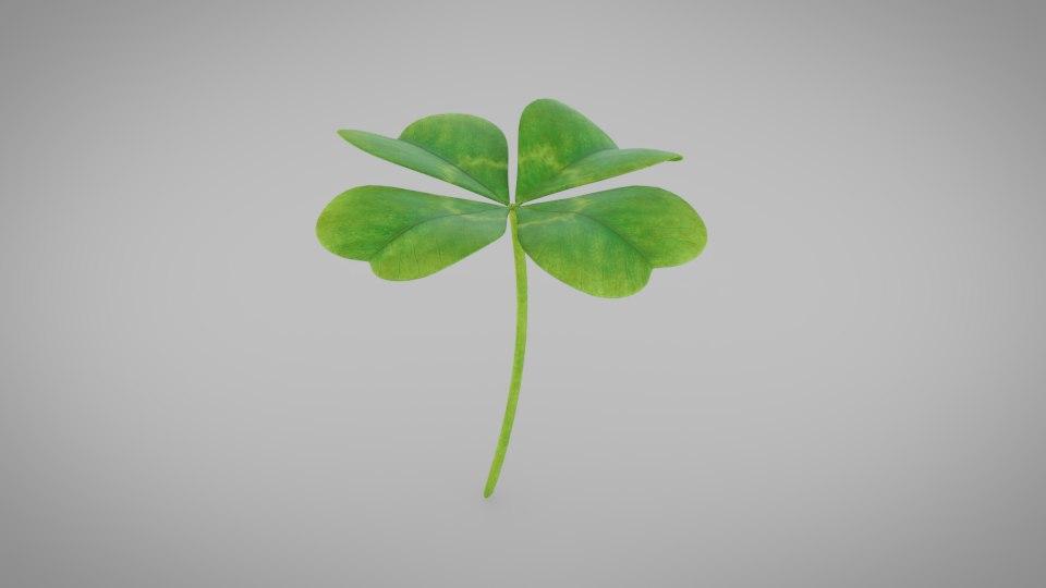 3D clover leaf model
