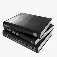 3D books black venice model