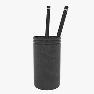 mug pen black 3D