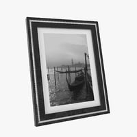 photo frame black 3D model