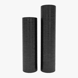 3D model vases black
