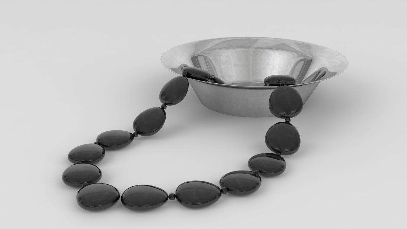 beads bowl black 3D model