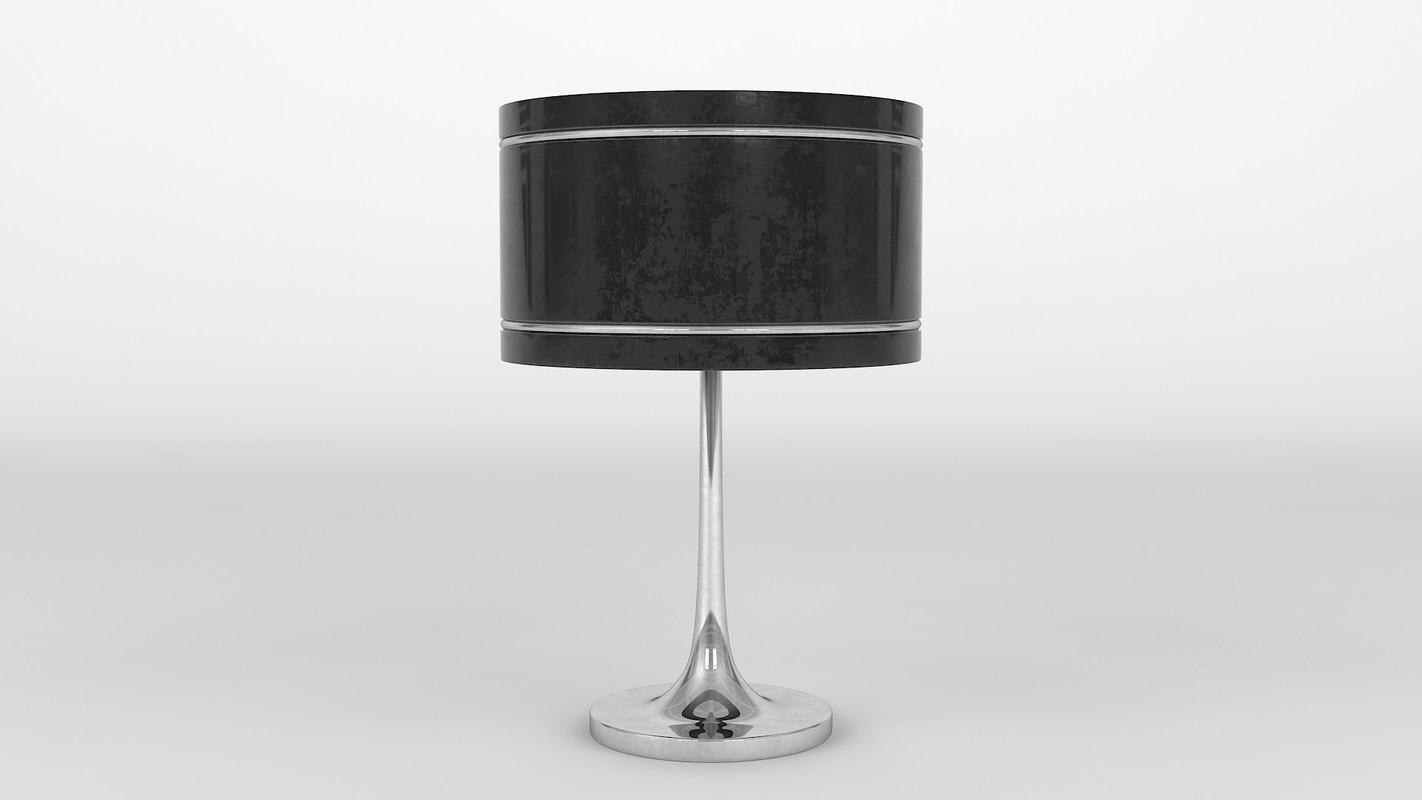 3D table lamp black