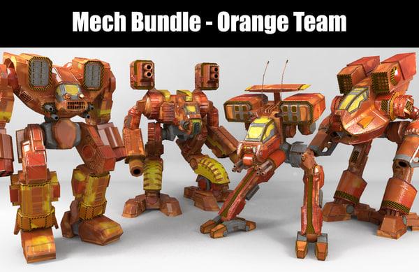mech orange team 3D model
