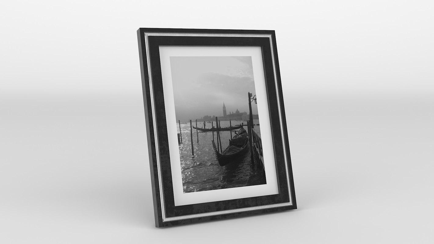 photo frame black 3D model