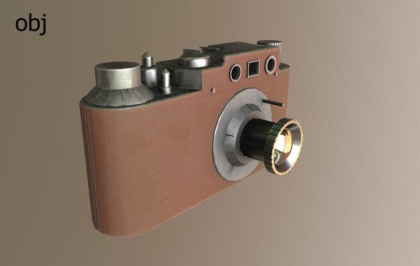 3d old film camera lens