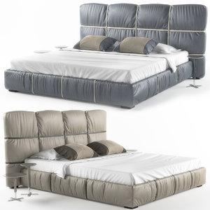 bed crossover night 3D model