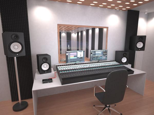 record studio 3D model