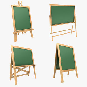 3D model chalkboard set