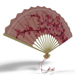3D model fan japanese hand