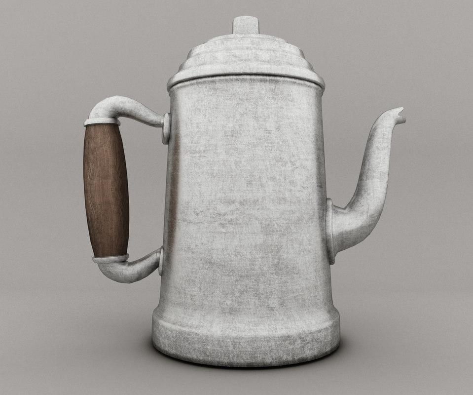 teapot milk 3D
