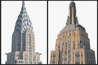 3D empire state building chrysler model